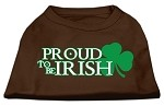 Proud to be Irish Screen Print Shirt Brown Sm